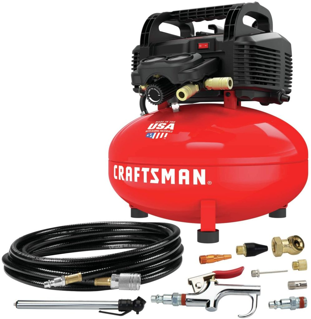 The Craftsman CMEC6150 is a powerful little compressor for beginners looking for utility.